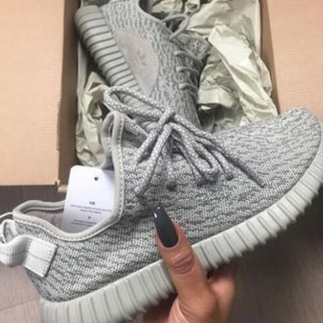 Adidas yeezy boost 350 men and women tide brand fashion trend classic sports running casual shoes F Grey