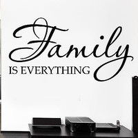 Vinyl Decal Family Is Everything Quote Decor for Bedroom Wall Sticker (ig1153)