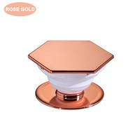 Classy Shiny Expanding Octagonal Smartphone Pop Finger Phone Grip Holder And Kickstand