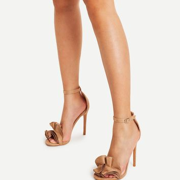 Layered Ruffle Design Stiletto Heels