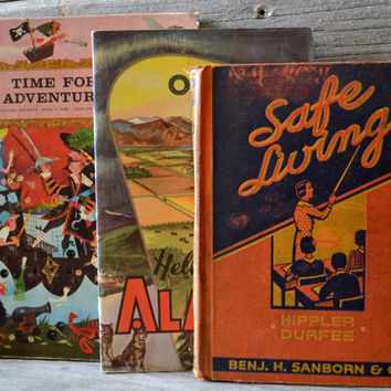 Three Vintage Textbooks 1930's thru 1960's