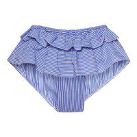 Ruffled Striped Brief by Harvey Faircloth Now Available on Moda Operandi