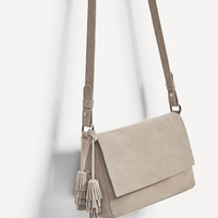 SPLIT SUEDE CROSSBODY BAG DETAILS