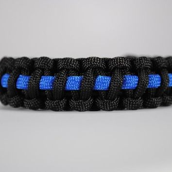 Thin Blue Line Police Paracord Bracelet Metal Clasp Support Lives Police Matter Blue Line Paracord Survival Bracelet