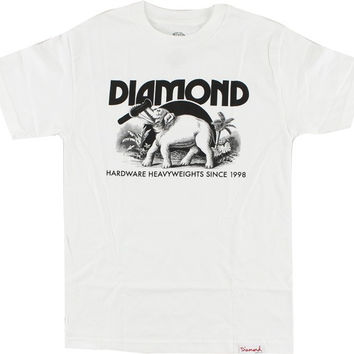 Diamond Ivory Tee Large White/Black