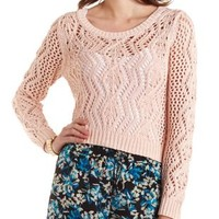Open Cable Knit Pullover Sweater by Charlotte Russe