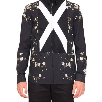 Givenchy  Cotton shirt with pearls and Floral print