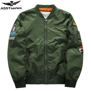 Military Jacket Men Men's MA-1 Style Army Tactical Baseball Jacket Bomber Jackets And Coats For Men Male Militar Chaqueta .DA02