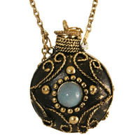 Charm Necklace - Antique Brass Vial with Dipper