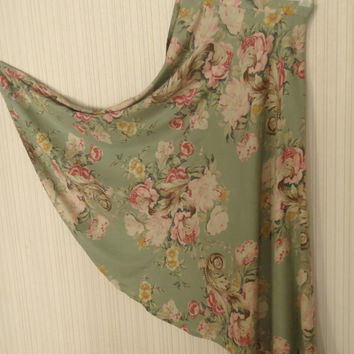 Cottage Rose Rayon Skirt by Banana Republic/ Vintage Clothing by Feisty Farmers Wife