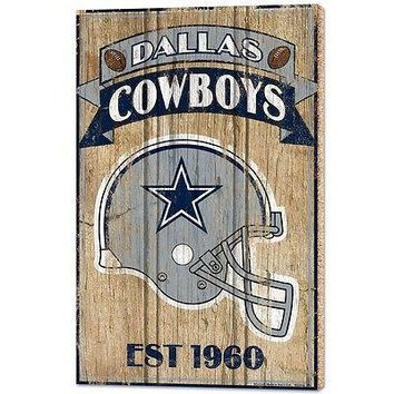 "DALLAS COWBOYS EST 1960 VINTAGE WOOD SIGN 15""X24'' BRAND NEW WINCRAFT"