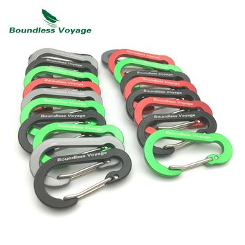 Boundless Voyage Outdoor Multi-function Buckle Aluminum Alloy Carabiner Camping Buckle Key Chain Backpack Hook BV1011