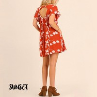 a line embroidered swing dress - more colors