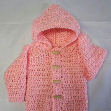 Baby Cardigan Sweater Hoodie Crochet Sweater Jacket