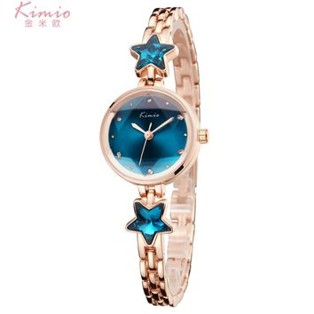 Ladies Time-limited New Watch 2017 Kimio Fashion Brand Bracelet Watches For Women Diamond Jewel Girl Stainless Steel Quartz