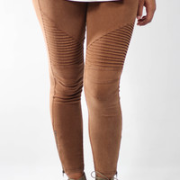 Rust Moto Jegging With Zipper Ankle Detail