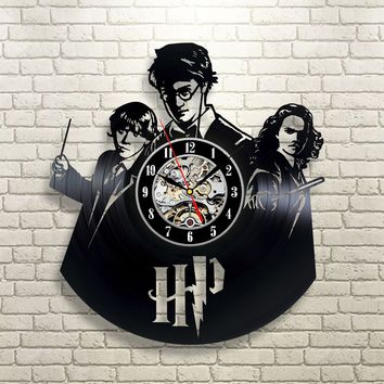 Harry Potter Vinyl Wall Clock
