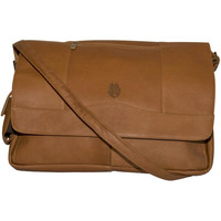 Pangea Tan Leather Laptop Messenger Bag - 2012 All Star Game