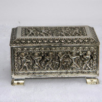 Vintage Silverplate Dancing Men Trinket Box by BrisNanaJoy on Etsy