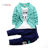 Boys Formal Clothing Plaid Suit