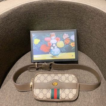 GUCCI Ophidia GG Supreme small belt bag