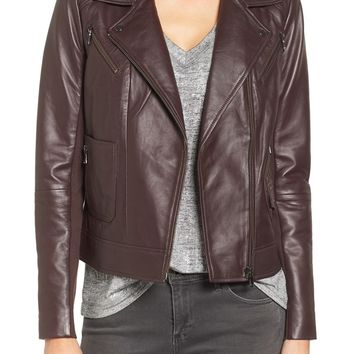 Trouvé Leather Moto Jacket | Nordstrom