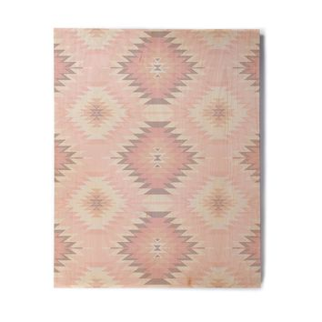 "Amanda Lane ""Soft Southwestern"" Pink Coral Digital Birchwood Wall Art"