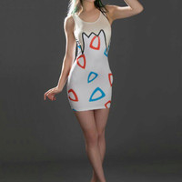 Togepi Inspired Bodycon Dress Pokemon Egg Gijinka Cosplay Costume [6-8 Week Processing Time, MADE TO ORDER]