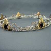 Ivy Coronet Ithildin Elvish Circlet (crown) - a bridal headdress inspired by the ones worn by Arwen and Galadriel in the Lord of the Rings (LOTR) []