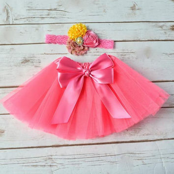 Pink Lemonade 1st Birthday, Pink Lemonade Outfit, Baby Tutu Skirt, Cake Smash Outfit Girl, Newborn Photo Outfit, 1st Birthday Girl Outfit