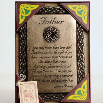 Father's Day Present Dad Gift Bronze Wall Decor Plaque Birthday Husband Keepsake, Wall Plaque, Bronze, Birthday Gift, Friendship Quote, BFF