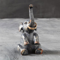 Rustic Elephant Ring Holder