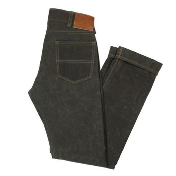 GN.04 WAXED CANVAS PANTS - OLIVE