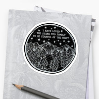 'I Love the Stars' Sticker by alexandrapentel