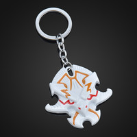 2015 New DOTA 2 The fury of the outbreak of facial mask Pendant Keychains White color Key Chain Ring Keyring Cosplay Jewelry