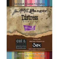 Tim Holtz | Choose from Distress Collection or Kraft-Core Nostalgic Collection | 72 Sheets | 4.25 IN x 5.5 IN | Cut and Emboss Series