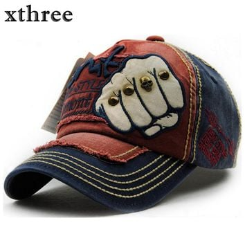 XTHREE unisex fashion men's Baseball Cap women snapback hat Cotton Casual caps Summer fall Hat for men cap