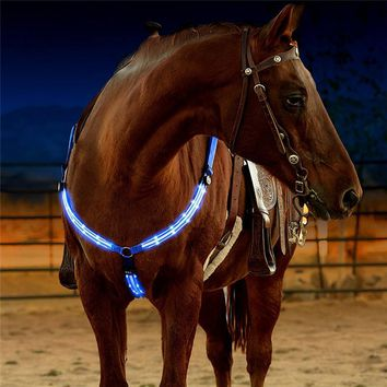 Rechargeable LED Horse Breastplate Collar