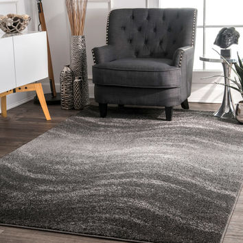 nuLOOM Contemporary Ombre Waves Grey Runner Rug (3' x 5') | Overstock.com Shopping - The Best Deals on 3x5 - 4x6 Rugs