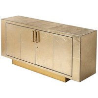Francois Gold Leather Buffet