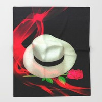 Message In A Hat Throw Blanket by Macsnapshot