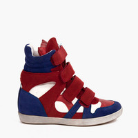 Rebel Wedge Sneakers $70