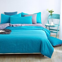 New Style Minimalist Soft and Comfortable Bedding Sets Bed Sheet and Duver Quilt Cover Pillowcase  King Queen Full Twin