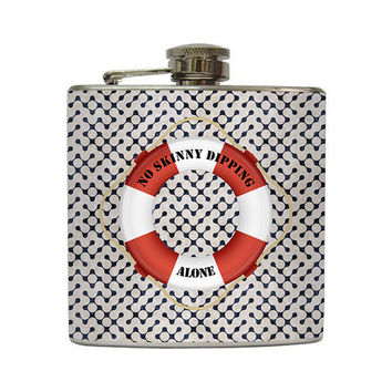 No Skinny Dipping Alone Liquor Flask Life by LiquidCourage on Etsy