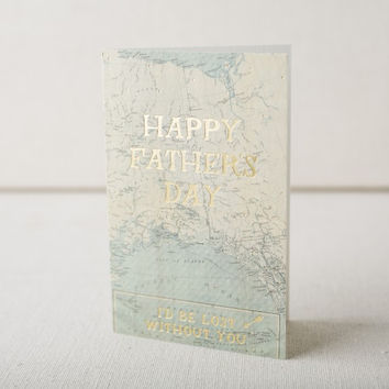 Father's Day Map Card