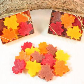 Leaf Shaped Candle Tarts, Fall Decoration, Fall Wax Melts, Halloween Decorations