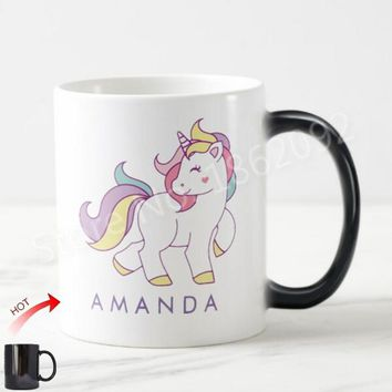 Custom Unicorn Magic Mug Personalised Unicorn Morph Mugs Heat Sensitive