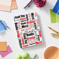 Red and Black Thank You Word Cloud iPad Pro Cover