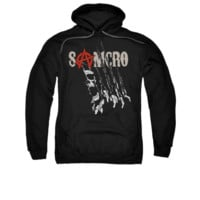 SONS OF ANARCHY RIP THROUGH Adult Fleece Pull Over Hoodie