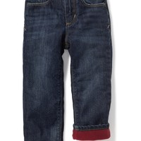Micro-Fleece-Lined Jeans for Toddler Boys |old-navy